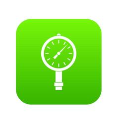 manometer or pressure gauge icon digital green vector image