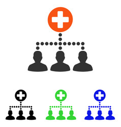 Medical client links flat icon vector