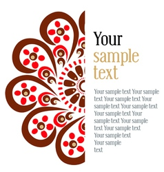 semicircular pattern vector image vector image