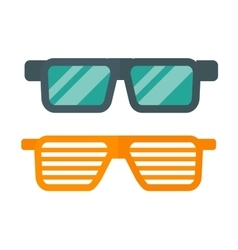 Striped glasses vector image vector image