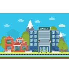 Urban Landscape Poster vector image vector image
