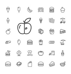 33 snack icons vector