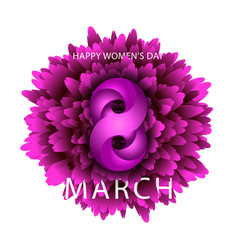 8 march happy women is day integrated text holiday vector