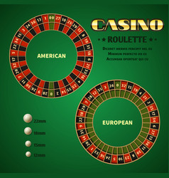 American and european casino roulette motion vector