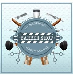 Barber Shop Realistic Concept vector