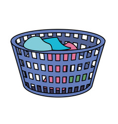 Basket object with dirty clothes inside vector