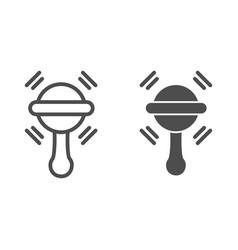 Beanbag line and glyph icon batoy vector