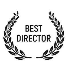 Best director award icon simple style vector