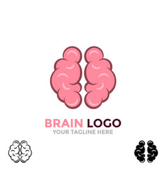 brain logo brainstorm think idea logo brain icon vector image