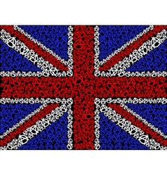British flag symbol anarchy vector