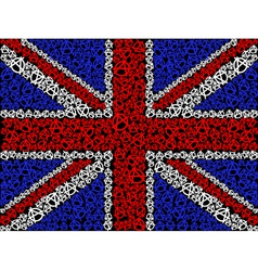 British flag symbol of anarchy vector image