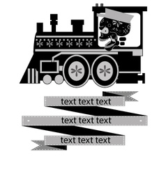 calavera-train vector image