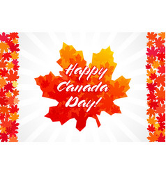 canada day flag vector image