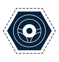 car steering wheel symbol vector image