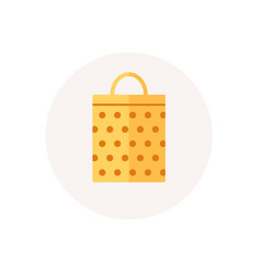 christmas bag icon retail and merchandise paper vector image