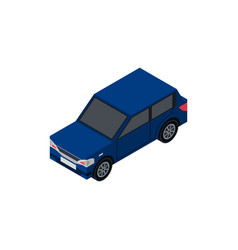 City hatchback isometric 3d element vector