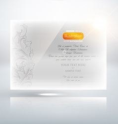 Classical white floral invitation vector