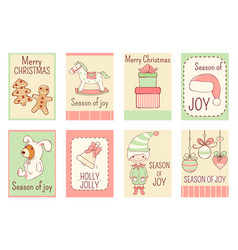 collection christmas banners in retro style vector image