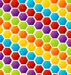 Colorful honey cell background vector image