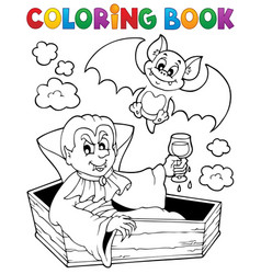 coloring book vampire theme 1 vector image