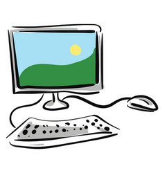 computer hand drawn design on white background vector image