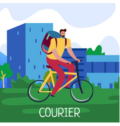 courier service poster vector image