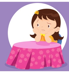 cute girl waiting vector image