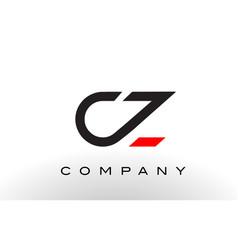 Cz logo letter design vector