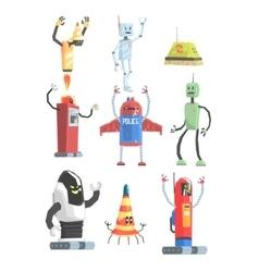 Different Design Public Service Robots Collection vector