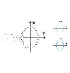 Disappearing dotted halftone dotted ellipse plot vector