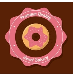 Donut food bakery design vector