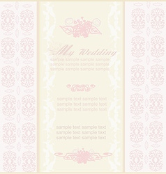 elegant wedding invitation vector image