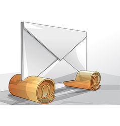 envelope with sign email vector image