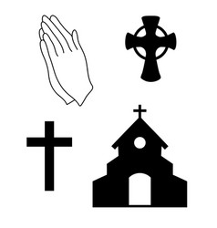 faith icons vector image