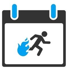Fire evacuation man calendar day toolbar vector