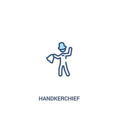 Handkerchief concept 2 colored icon simple line vector