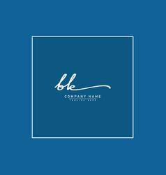 Initial letter bk logo - hand drawn signature logo vector
