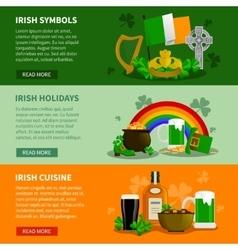 Ireland Horizontal Banners vector image
