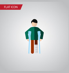 Isolated disability flat icon injured vector