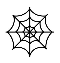 Isolated spider web icon vector