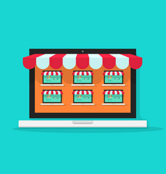 marketplace online internet vector image