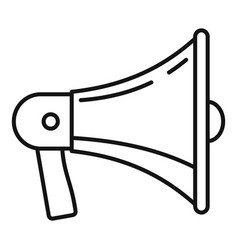 megaphone icon outline style vector image