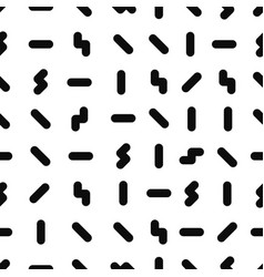 memphis seamless pattern fashion 80-90s black vector image vector image