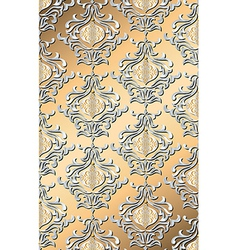 metallic holiday damask vector image