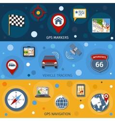 Navigation Banners Set vector image