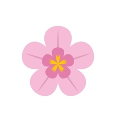 Orchid flat icon vector