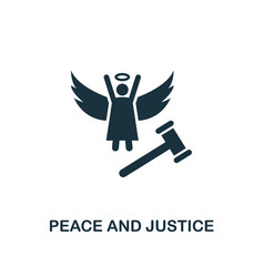 Peace and justice icon creative element design vector