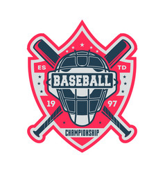 professional baseball championship vintage label vector image