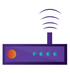 purple radio simple on a white background vector image