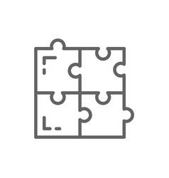 puzzle simple solutions compatibility solving vector image
